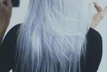 파란색 머리