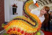 Owoce na imprezy, Sałatki owocowe, Creative fruit. Frutas para fiestas / Pomysły na dekoracje z owoców, owoce na przyjęciach, wiele inspiracji.