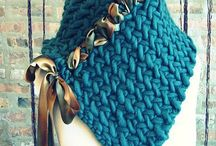 Crochet snoods and neck warmers