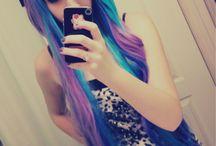 Farvet hair