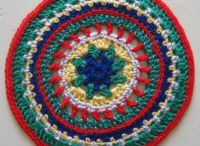 Mandala Wheels 11 / Crochet mandalas created for Yarndale 2014
