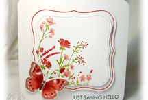 Cards...Floral Watercolor stamps