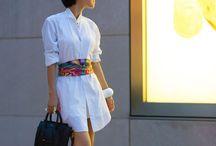 Porter foulard sur une robe