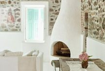 Fireplace Santorin