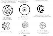 Merkit ja muut/ Symbols and others / Witchcraft stuff