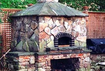 Outside pizza oven