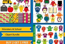 Monster theme ideas for classroom projects and kids party (clipart, craft, printable) / Monster theme ideas for classroom projects and kids party (clipart, craft, printable)