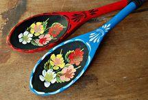 cucharas de palo