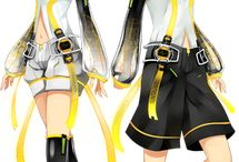 The Kagamine Twins 鏡音リン・レン / 有名なボカロイドの双子です。 Follow this board if you has already watched the「Story of Evil」about this twins :3