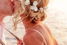 Beach Wedding Hair / Beach wedding hair, beachy wedding hair and beach wedding headband ideas