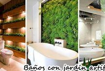 Decoración de baños con jardines artificiales
