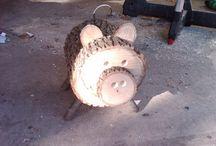 zwierzęta z drewna