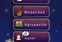 BaalMedia app Carnaval TV / Menus and icon design. Aplicación Smartphone