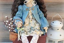 Мои работы. Текстильные куклы.