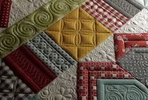 Machine sewing stitches on quilts