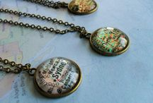 Map jewelry and accessories / Custom map items for you and your home from B*jeweled Vintage