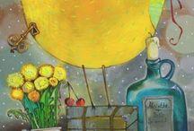 АННА СИЛИВОНЧИК (МОЯ КОЛЛЕКЦИЯ ОТКРЫТОК) / Ее картины излучают живое тепло, поднимают настроение, заряжают жизненной энергиеи и оптимизмом.