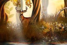 """Schattenthron; Märchenwald / Hier sammle ich Bilder, welche die Stimmung in den Wäldern meiner Fantasyreihe """"Schattenthron"""" bei Oetinger nahekommen."""