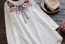 yazlık şile bezlinden işlemeli bluz