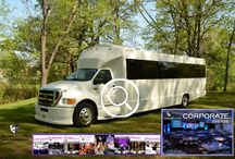 EXECUTIVE BUS RENTAL (34 Passenger) / This Executive Limo Corporate Day Bus can accommodate 34 passengers very comfortably. It is equipped with a Big Screen TV and 4 additional ceiling monitor TV's, AM/FM/CD, DVD player, I- Pod connection, fiber optic lighting, wood flooring, Granite appearance tables. Air conditioning, heat and lavatory.    #partybus #njpartybus   TRULIMO.COM Tel: 908.523.1700