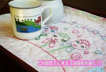 Christmas sewing / Christmas embroidery, patchwork and other festive sewing. / by Teresa DownUnder