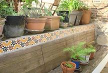 Gardens and Patios / Our Encaustic, Terracotta and Granada renages are perfect for outside