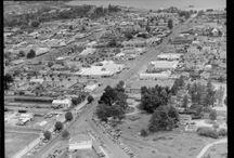 Streets of Rotorua / How does Rotorua look, then and now photographs