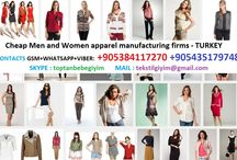cheap men and women clothing manufacturing company / cheap men and women clothing manufacturing company - super quality, reasonable price textile production center. CONTACT : +90 538 411 72 70