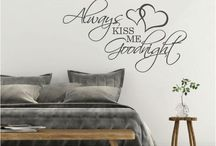Bedroom Wall Sticker Love Quotes / Wall Sticker Love Quotes make perfect wall decor for any bedroom.