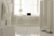 White Stained Wood Flooring