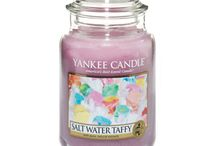Salt Water Taffy / A seaside tradition . . . all your favorite fruit flavors and creamy vanilla all rolled into one. / by Yankee Candle: Scented Candles | Home & Car Air Fresheners, Fragrances & Decor