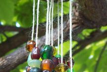 beaded hanger for garden