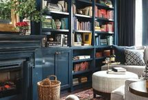 Blues / Blue wall inspiration.