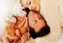 Fotos de Gêmeos com a família / Ideias e inspirações para famílias com filhos gêmeos.