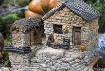 fairy garden stone cottage