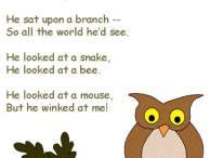 English - Poem for Kindergaten