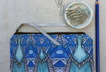 Bags, Purses and Pouches / Handmade bags, purses and zipper pouches to brighten life up.