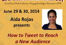 DFW Rocks Social Media / Speakers at #DFWrockssocialmedia 2014 / by Ana Lucia Novak