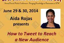 DFW Rocks Social Media / Speakers at #DFWrockssocialmedia 2014 / by Ana Lucia Novak