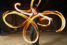 Fire twirl / All things poi, staff, double staff etc
