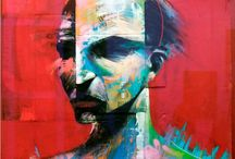 """ADAM NEATE by WIDEWALLS / Adam Neate (born 1977) is a British painter, conceptual artist and described by The Telegraph in 2008 as """"one of the world's best-known street artists"""". He specialised in painting urban art on recycled cardboard, and has left thousands of works in the street for anyone to collect. He is a contributor from the movement in transferring street art into galleries. Adam Neate is a street artist, but not in the way you might expect."""