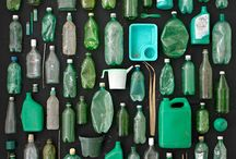 Bottle Green / Vintage bottles and glass