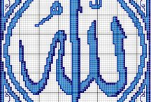 Crossstitch : Kaligrafi