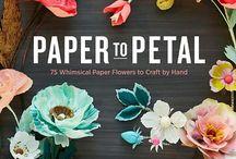 kwiaty Flowers / kwiatki z tkanin,filcu i papieru