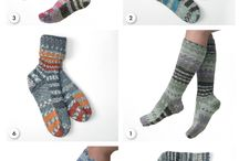 Knitted Socks / Different styles of yarn made into stylish socks