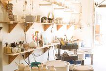 dreamy ceramic studio
