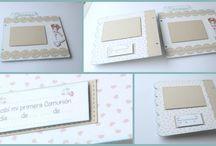 Primera comunión manualidades / Ideas y tutoriales para crear tus regalos, libros de firmas recordatorios e invitaciones de 1ª comunión.
