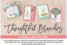 SU 2016 Thoughtful Branches Bundle / There are so many incredible things this stamp set and thinlit set can do, this is just a small sampling of what can be created! Don't forget to order your own set, available while supplies last! Shop yours, in August, here: http://goo.gl/jmYWFH