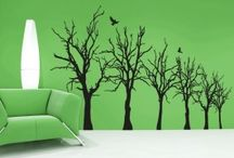 Floral/Landscape / Lovely floral and tree scape wall decals that provide any room a touch of chic elegance.