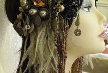 tribal belly dance hair dressing